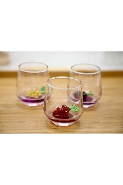 3'lü Meyve Figürlü Kahve Yanı Bardağı Seti