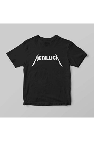 Unisex Siyah Metallica Tshirt