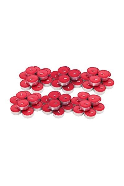 Kırmızı Tea Light Mum 50li