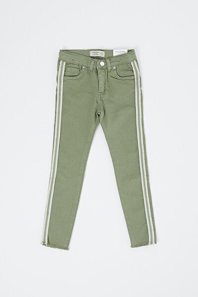 Kız Çocuk Haki Kot Pantolon