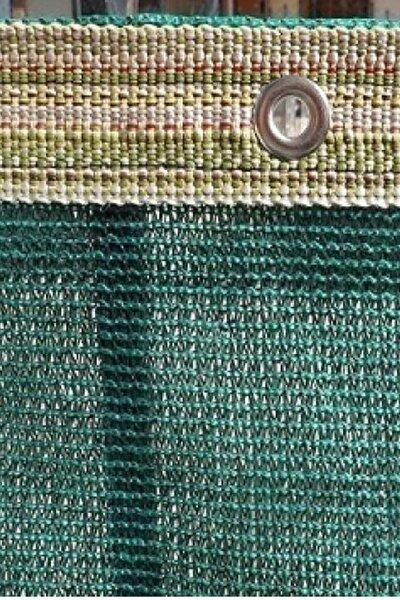 Gölgelik File 1,5x15 Mt %95 Gölgelik Kumaş Gölgeleme Çit Örtüsü Yeşil Kuşgözlü + Kolonlu