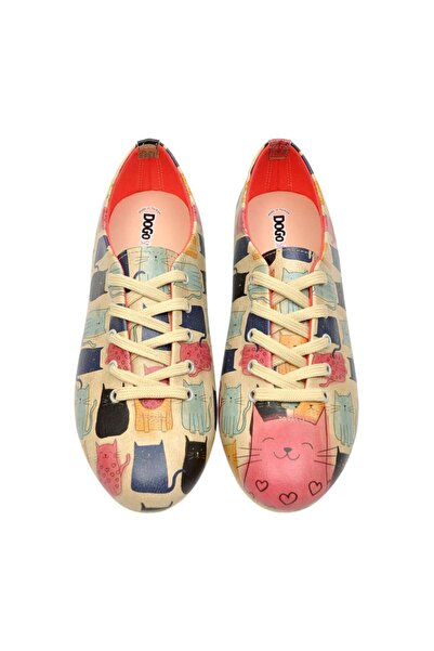 Kadın Renkli Bağcıklı Ayakkabı