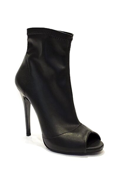 Kadın İnce Topuk Klasik Siyah Ayakkabı