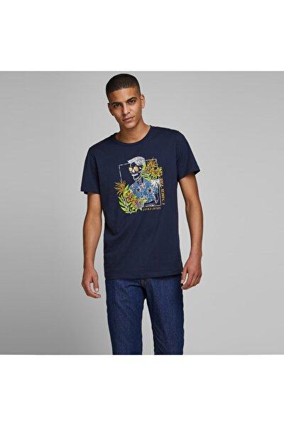 Erkek Lacivert Baskılı Tişört (12173024-nbl)