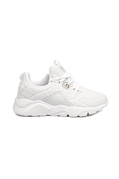 Beyaz Kadın Yürüyüş Ayakkabısı 23904
