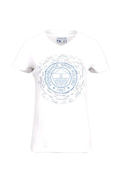 Kadın Beyaz Tribün Taşlı T-shirt
