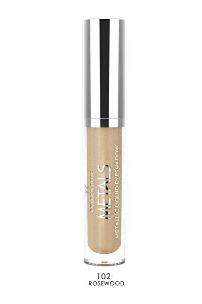 Likit Metalik Göz Farı - Metals Metallic Liquid Eyeshadow No: 102 Rosewood 8691190137526