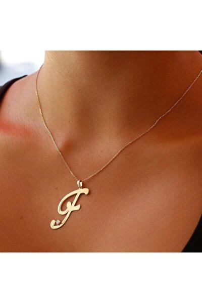 Plaka Altın Harf Kolye Pkl11034