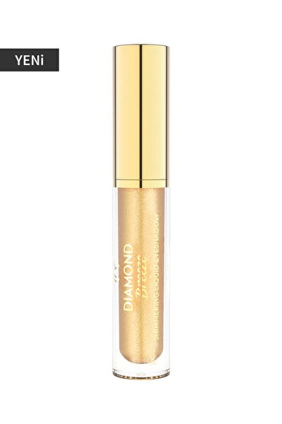 Likit Göz Farı - Diamond Breeze Shimmering Liquid Eyeshadow 01 24K Gold 8691190965624