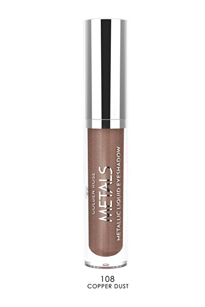 Likit Metalik Göz Farı - Metals Metallic Liquid Eyeshadow No:108 Copper Dust 8691190137588