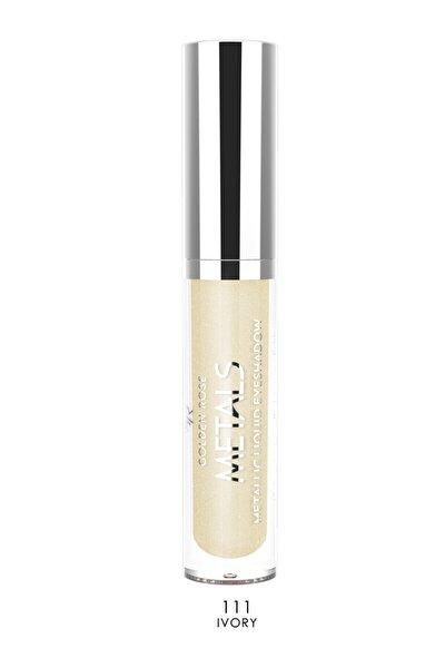 Likit Metalik Göz Farı - Metals Metallic Liquid Eyeshadow No:111 Ivory 8691190137618