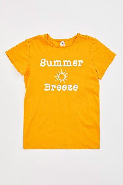 Kız Çocuk Baskılı Kısa Kollu T-shirt