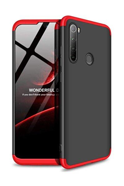 Redmi Note 8 Kılıf, Microsonic, Double Dip 360 Protective Siyah Kırmızı