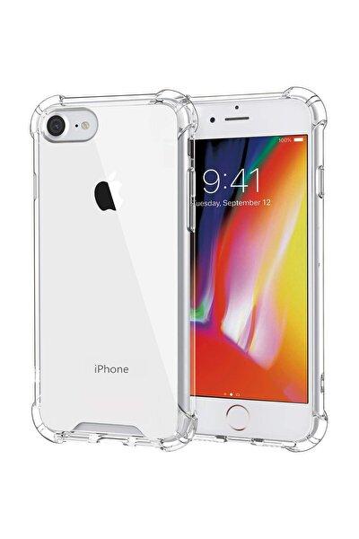 Apple Iphone 8 Kılıf Köşe Korumalı Antishock Airbag Şeffaf Kapak