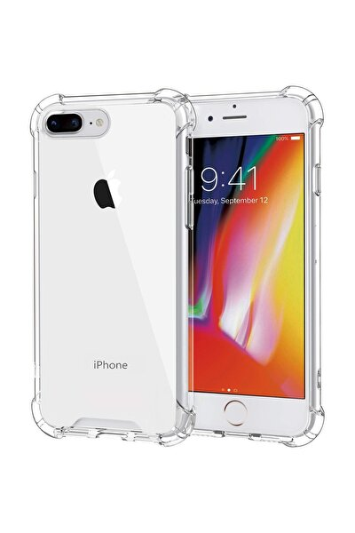 Apple Iphone 8 Plus Kılıf Köşe Korumalı Antishock Airbag Şeffaf Kapak