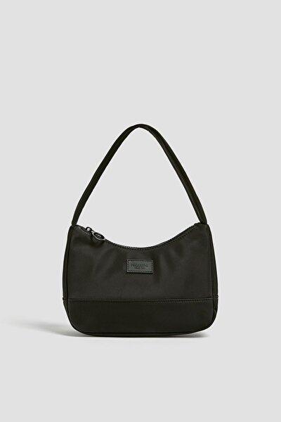 Kadın Siyah Mini Baget Çanta 14019640