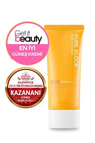 Güneş Kremi - A'PIEU Pure Block Natural Daily Sun Cream SPF45/PA+++ 8809581450615