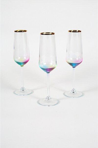 Rainbow 3'lü Şampanya Kadehi Seti 195 cc