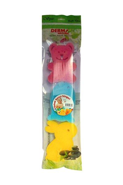 3 lü Renkli Bebek Banyo Süngeri