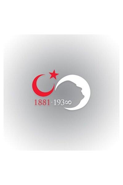 Atatürk Sonsuz Ay Yıldız Silüet Oto Sticker 30 cm x 21 cm
