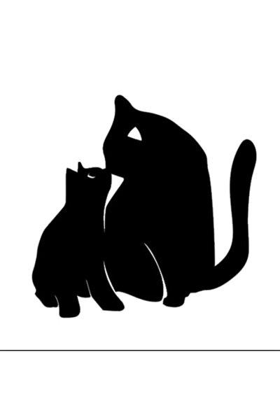 2Li Sevimli Kedi Z Araba Sticker  Yapıştırma