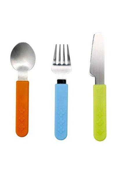 Smaska 3 Parça Çocuk Çatal Kaşık Bıçak Seti