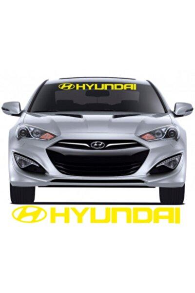 Hyundai Ön Cam Araba Sticker Yapıştırma 30 CM EN