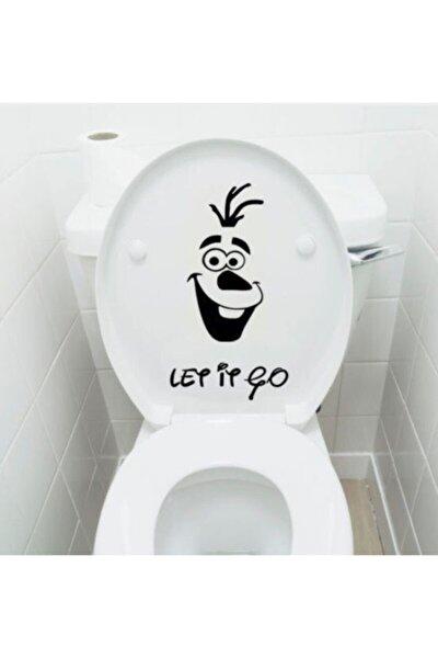 Klozet Banyo Sticker Komik Resim 5