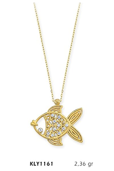 14 Ayar Altın Balık Kolye KLY1161