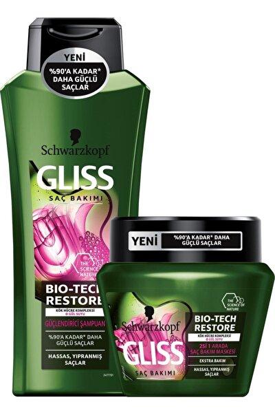 Bio-Tech Güçlendirici Şampuan 360 ml + Gliss Bio-Tech Saç Bakım Maskesi 300 ml