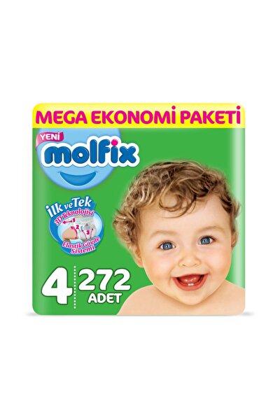 Bebek Bezi 4 Beden Maxi Mega Ekonomi Paketi 272 Adet