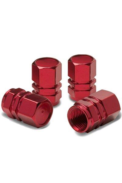 Alüminyum Altıgen Sibop Kapağı 4'lü Kırmızı
