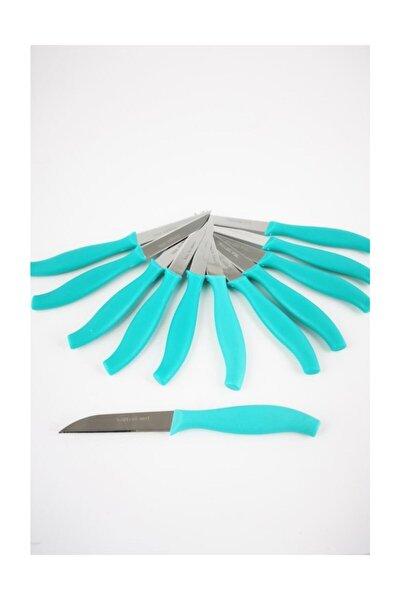 Paslanmaz Çelik Meyve Sebze Bıçağı 12'li Turkuaz