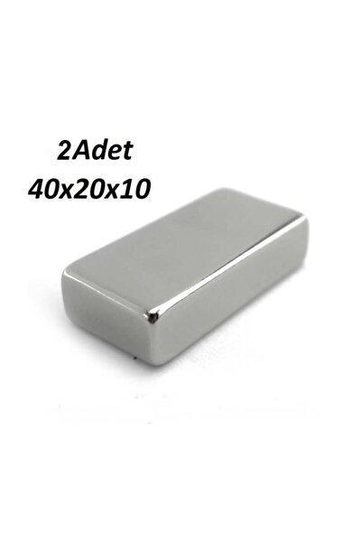 2 Adet 40mm X 20mm X 10mm Neodyum Mıknatıs - Çok Güçlü Mıknatıs