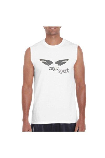 Erkek Beyaz Spor Antrenman Atlet