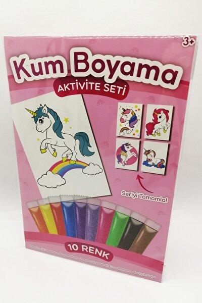 Gökkuşağı Unicorn Kum Boyama Aktivite Seti