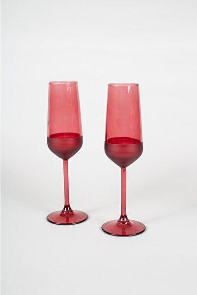 Matte 2'li Şampanya Kadehi Seti Kırmızı 195 Cc