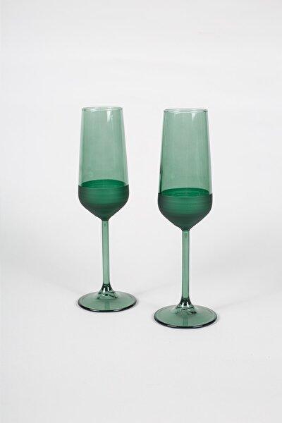 Matte 2'li Şampanya Kadehi Seti Yeşil 195 Cc