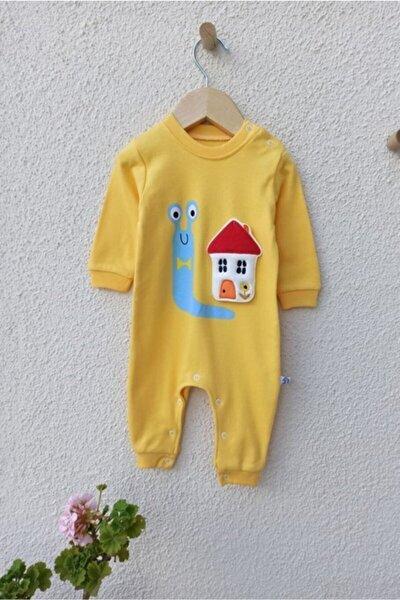 Ev Nakışlı Bebek Tulum 3-6-9 Ay