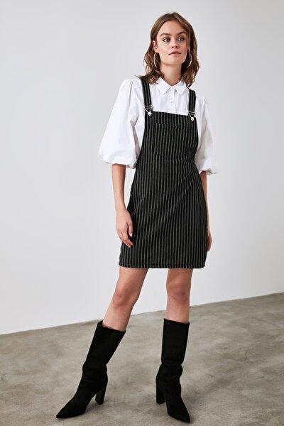 Siyah Askılı Jile Örme Elbise TWOAW21EL1799