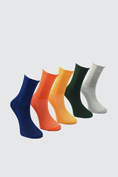 Çok Renkli Erkek 5'li Soket Çorap TMNAW21CO0076