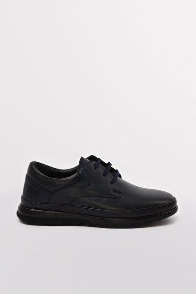 Hakiki Deri Lacıvert Casual Ayakkabı 02AYY602590A680