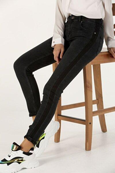 Siyah Dar Paça Jean Pantolon