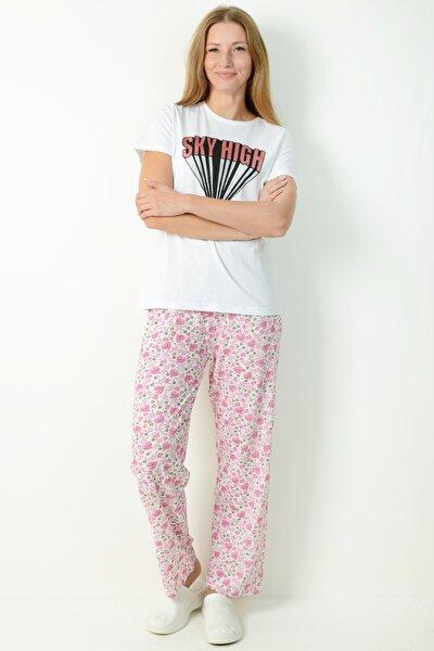 Kadın Pembe Pijama Altı Pmplt24055