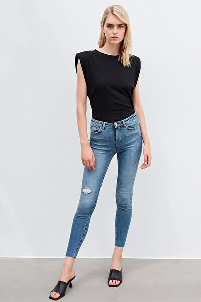 Kadın Mavi Skinny Fit Jean Pantolon IW6200018035