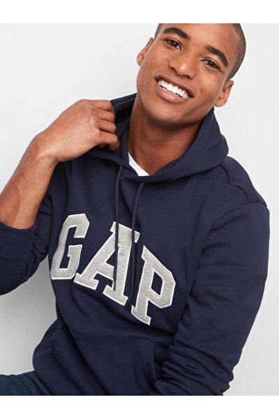 Erkek Lacivert Logo Kapüşonlu Sweatshirt 867073