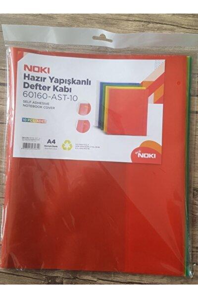 Hazır Yapışkanlı Kaplık Defter Kabı 10 Lu Renkli 60160-ast-10 (1 Paket 10 Adet)