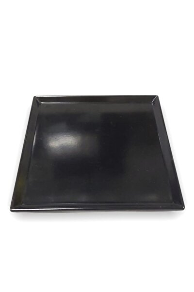 20*20cm Siyah Sunum Tabağı Thermo Melamin