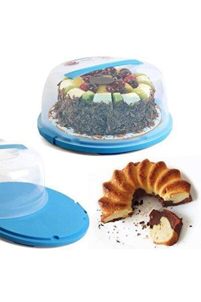 Pasta Kek Saklama Taşıma Kabı Bayatlama Önleyici Kilitli Plastik