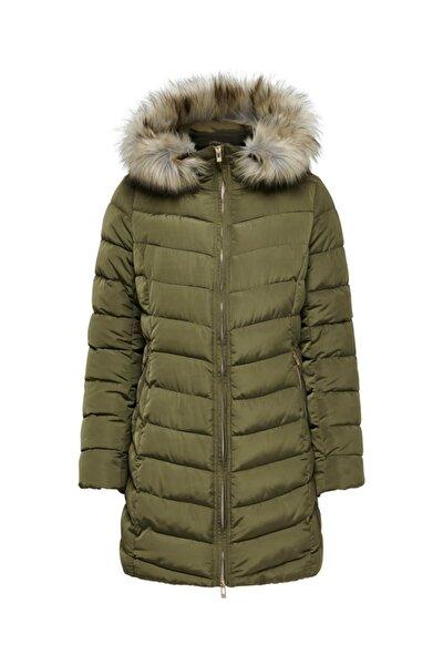 Onlellan Quılted Hood Fur Coat Otw